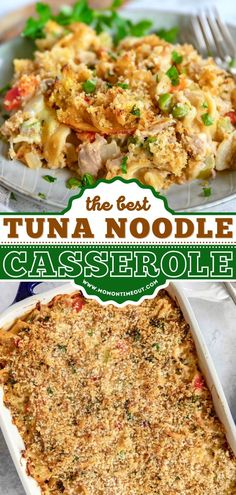 Craving classic comfort food? Learn how to make Tuna Casserole! With a from-scratch sauce, egg noodles, peas, and a Panko-Parmesan topping, this easy casserole recipe is sure to become a favorite dinner idea! Best Tuna Casserole, Easy Casserole Recipes, Noodle Casserole, How To Make Tuna, Food To Make, Egg Noodles, Quick Easy Meals, Fried Rice, Macaroni And Cheese