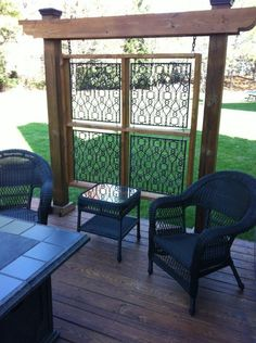 """outdoor wall --for those iron gates I've carried around for decades or rather, honey has """"carried around."""""""