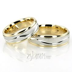 Bestseller Wave Design Wedding Ring Set; together - $1500