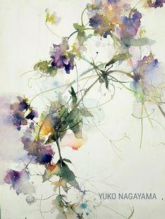 La imagen puede contener: planta y flor Watercolor Images, Watercolor Artwork, Watercolor Flowers, Abstract Flowers, Botanical Illustration, Flower Art, Painting & Drawing, Drawings, Watercolors