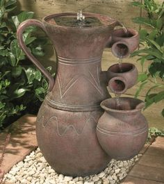 Cascading Urn Solar Water Feature