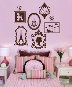 Pairs Inspired Wall Decals, Vinyl Wall Graphics, Stickers, Europe, Frames.    See how customers have used thesengraphics!