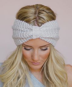 No wait, this one @janinecart  Ivory Chunky Knotted Headband by Three Bird Nest