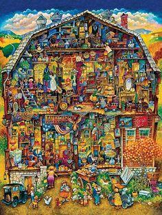 Bill Bell Solid-Faced Canvas Print Wall Art Print entitled The Antique Barn Book Illustration, Illustrations, Canvas Wall Art, Wall Art Prints, Bell Art, Hidden Pictures, Picture Description, Pixel Art, Fantasy Art