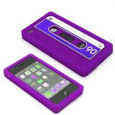 purple cassette iphone case