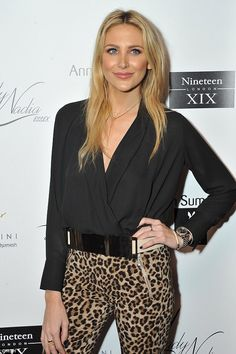 Easy tiger! Made in Chelsea's Stephanie Pratt channeled her wild side in a pair of tight l...