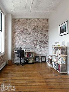 Charming White Washed Brick In Case We Need To Save Brick