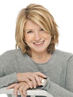 Martha Stewart To See more Hairstyles Modeled by Women over 45 See: http://stillblondeafteralltheseyears.com/category/hairstyles-for-women-over-45/ #Womenover45 #fashionforWomenover45 #HairstylesforWomenover45