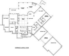 Craftsman Plan: 3,480 Square Feet, 2-3 Bedrooms, 3.5 Bathrooms - 699-00105 Lake House Plans, Luxury House Plans, Craftsman House Plans, Patio Slabs, I Love House, Ceiling Design, Square Feet, Bathrooms, Floor Plans