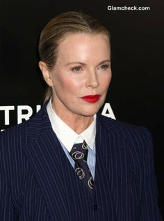 "Kim Basinger in Ultra Tailored Androgynous Look at ""Grudge Match"" Premiere Grudge Match, Androgynous Look, Kim Basinger, Three Piece Suit, Absolutely Gorgeous, Beautiful, Actresses, Elegant, Stylish"