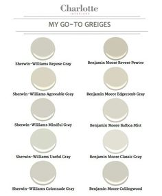 Meine Go-to-Greige-Lackfarben – Charlotte Interiors - Kitchen Paint Colors Griege Paint Colors, Paint Color Schemes, Room Paint Colors, Paint Colors For Home, House Colors, Best Greige Paint Color, Best Neutral Paint Colors, Wall Colors, Interior Paint Colors For Living Room