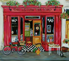 Irish Tea Shop by Suzanne Etienne