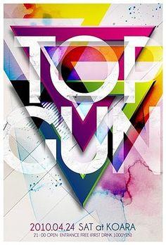 Top Gun, interesante juego de formas y colores, aún así es bastante legible.