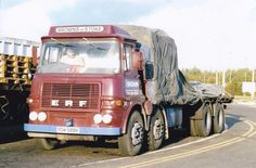 COL PHOTO BROWNS OF STOKE ERF 8 WHEEL RIGID FLAT - YDW 588K #Notapplicable Vintage Trucks, Old Trucks, Classic Trucks, Classic Cars, Old Lorries, Big Wheel, Commercial Vehicle, Back In The Day, Tractors