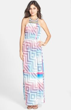 Charlie+Jade+Beaded+Print+Maxi+Dress+available+at+#Nordstrom