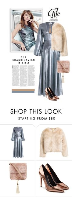 """Zimmermann metallic dress"" by anne-irene ❤ liked on Polyvore featuring Zimmermann, Brother Vellies, Alexander Wang, NAKAMOL, HM and metallicdress"