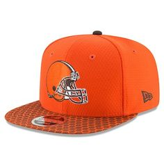 the latest 571bf b3f94 Cleveland Browns New Era Youth 2017 Sideline Official 9FIFTY Snapback Hat -  Orange