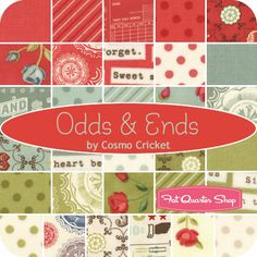 Odds & Ends Jelly Roll Cosmo Cricket for Moda Fabrics - Fat Quarter Shop