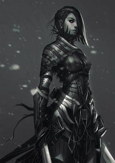 arte da fantasia, guerreiro, armadura