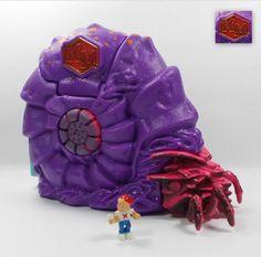 Mighty Max - Sinks Nautilus / Sea Slug - Doom Zones - Bluebird Toys 1994 23