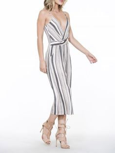 The Room Romper Slv/lss Striped Wrap Style Spring Summer 2018, Wrap Style, Jumpsuit, Rompers, Room, Dresses, Fashion, Overalls, Monkeys