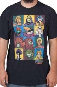 Masters Of The Universe Characters Shirt: 12 MOTU Characters, 1 Shirt