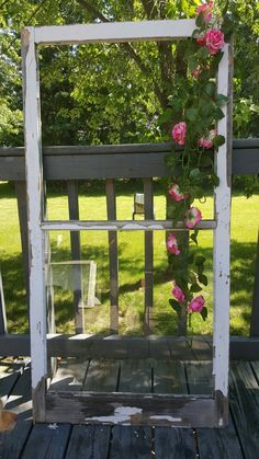 Vintage Wood Window, Window Frame, 2 Pane, Old Window, Farmhouse Window, Home Decor, Wedding Decor, Craft Supplies, DIY Decor, Windows 0249
