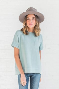 Upstate Blouse in Sage