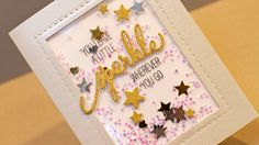 cardmaking video tutorial: No-Bulk Shaker Card by Jennifer McGuire ... luv all of the tips ... creating dimension ... adhesives ...  fun card!
