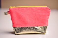 Gold Bottom Neon Case: im carrying a much smaller purse these days, so this would be perfect. by freshly picked