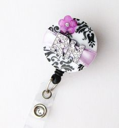Custom Purple RN Blossom Bling  Designer Name Badge by BadgeBlooms, $18.00