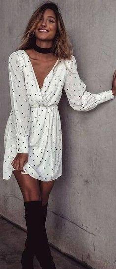 #summer #flirty #outfitideas Polka Dot Little Dress