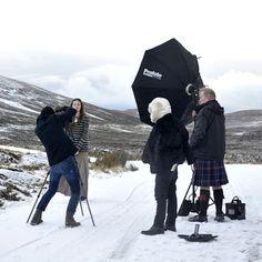 Highlands é o cenário escolhido para a campanha de inverno de Daniele Mabe