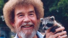Just Bob Ross with a happy baby trash panda cute puppies cats ani. Bob Ross Youtube, Bob Ross Quotes, Happy Little Trees, Bob Ross Paintings, The Joy Of Painting, Wow Art, Happy Baby, The Life
