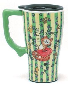 Spoontiques Cat Lover Ceramic Travel Mug by Spoontiques, http://www.amazon.com/dp/B000O8RJV6/ref=cm_sw_r_pi_dp_msu-rb1FV6H96