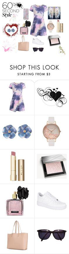 """Pastel fashion"" by lilmayxox on Polyvore featuring Olivia Burton, Stila, Burberry, Victoria's Secret, NIKE, Yves Saint Laurent, Sonia Rykiel, pastel, tshirtdresses and 60secondstyle"