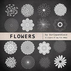 Chalkboard Clipart flower cliparts Chalkboard by 1burlapandlace, $4.99