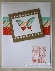 Stampin Up Perfect Pennants butterfly card