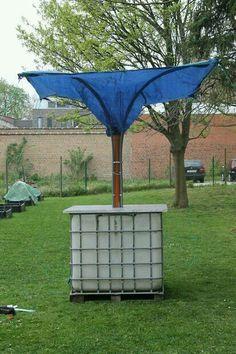 Collect rainwater for garden