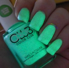 Color Club Get Down Tonight glows in the dark - noctilucent nail polish