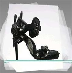 the ultimate chic shoes for the ladies made out of snowboard bindings ...