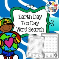 Earth Day Word SearchThis download includes 4 easy and 2 harder style word search activities.All vocabulary is linked to the theme of Valentine's Day and includes black and white graphics. This activity is part of my growing word search bundle available here at a fabulous discounted price.Click here to view my $2.99 and under cart fillers.****************************************************************************If you purchase this product I would very much appreciate you coming back to…