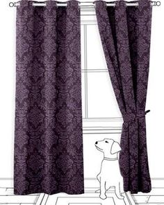 grey and damson curtain - Google Search