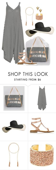"""Where my beaches at?- plus size"" by gchamama ❤ liked on Polyvore featuring New Look, Mat, Ash, Kendra Scott, Charlotte Russe and Janis Savitt"