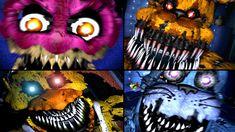 ALL JUMPSCARES Five Nights At Freddy's 1, 2, 3, 4 (FNAF, FNAF 2, FNAF 3,...