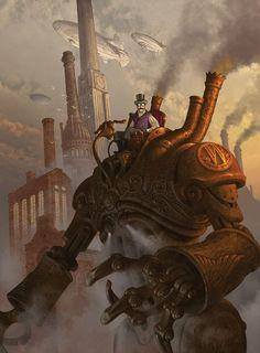 Steampunk! by Antonio Caparo, via   http://3d-characters-27.blogspot.com