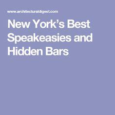 New York's Best Speakeasies and Hidden Bars