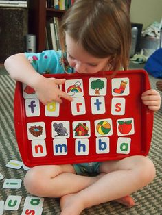 Barker Creek letter sounds magnets and magnet board. So awesome!