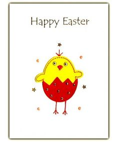 Easter Chick Handmade Card Size 19 x 14cm