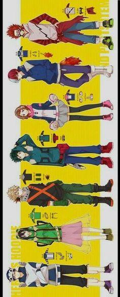 Boku no Hero Academia || Iida Tenya, Asui Tsuyu, Bakugou Katsuki, Midoriya Izuku, Uraraka Ochako, Todoroki Shouto, Kirishima Eijirou